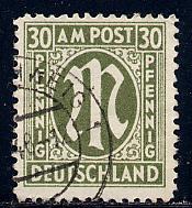 Germany AM Post Scott # 3N14, used, variation