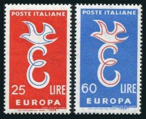 Italy 750-751,MNH.Michel 1016-1017. EUROPE CEPT-1958.E and dove.