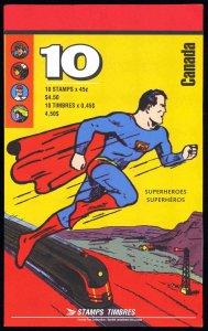 Canada 1995,Booklet MNH 1995 45¢ Superheroes # BK185b