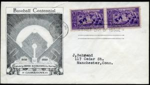 #855-45 FIRST DAY COVER BY HISTORIC ARTS CACHET BN1044