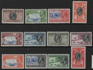 CAYMAN ISLANDS   85-96 MNH, H REMNANT 1935-36 SET, READ