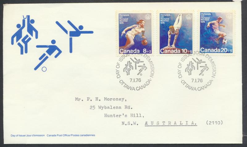 FDC Olympics  SG 829 / 831  SC# B10 / B12 SPECIAL - please read details -Mont...