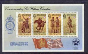 Isle of Man Sc81a 1976 US Bicentennial stamp sheet