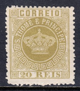 St. Thomas and Prince Islands - Scott #3 - MH - See description - SCV $3.50
