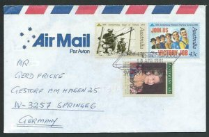 AUSTRALIA 1991 cover to Germany - nice franking - Sydney pictorial pmk.....12852