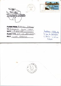 1985 US NAVY + FLIGHT CACHET, 1985, Polar