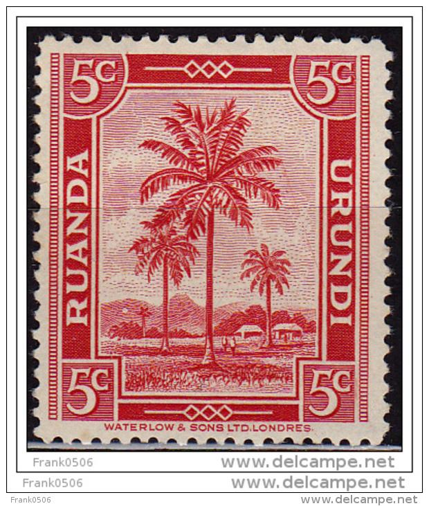 Ruanda-Urundi, 1942-43, Oil Palms, 5c, Scott#68, MH