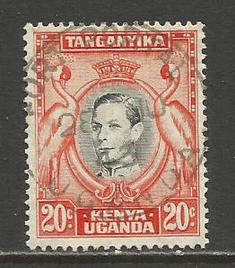 Kenya,Uganda,Tanz.   #74  used  (1942)