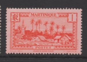 Martinique Scott# 133 unused  hinged