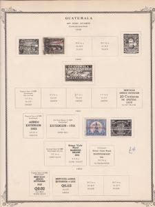 guatemala stamps page ref 17220