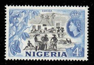 Nigeria 1953 QEII 4d SG 74 mint