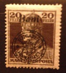 Hungary 1918,MNH 20f,(Kolozsvar) Very Fine Scott  5N20
