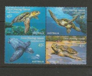 Cocos Islands 2002 Turtles UN/MNH SG 393a