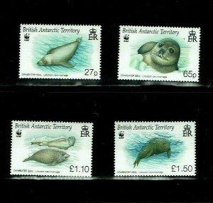 British Antarctic Territory: 2009 Endangered Species, Crabeater Seals, MNH set