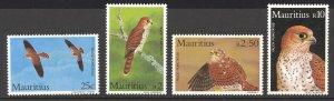 Mauritius Sc# 583-586 MNH 1984 25c-10r Mauritius Kestrels