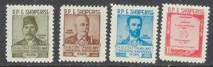 Albania 567-70 MNH 1960 Albanian Authors (ap7017)
