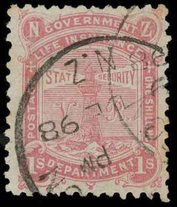 New Zealand Scott OY6 Gibbons L6 Used Stamp