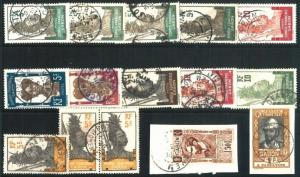 70786 -  GABON - STAMP:  NICE lot of USED stamps - Some on piece