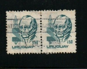 Uruguay #1089 used pair stamp quite imposible to see !
