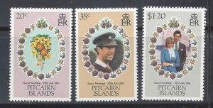 Pitcairn Islands MNH 206-8 Royal Wedding