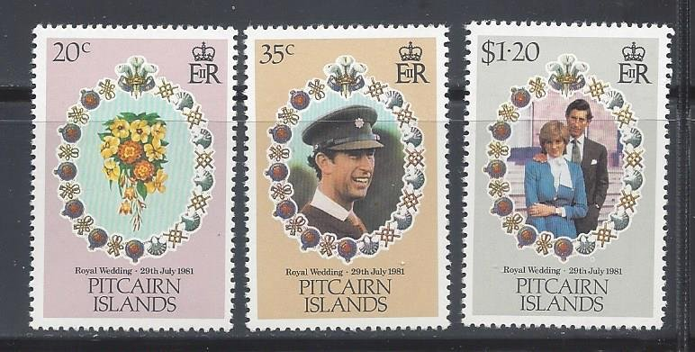 Pitcairn Islands MNH 206-8 Royal Wedding