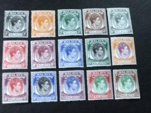 MALAYA/MALACCA # 3-17-MINT/HINGED---COMPLETE SET---1949(LOTC)