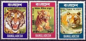 Bangladesh. 1974. 49-51. Tiger fauna. MNH.