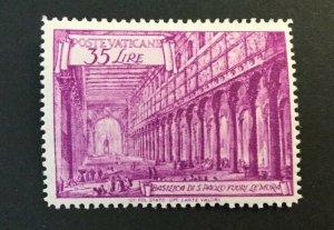 Vatican City Sc# 129a MH (Mint Hinged) - Perf 13 1/2 x 14