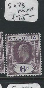 ST LUCIA  (P2705BB)  KE  6D  SG 73   MNH