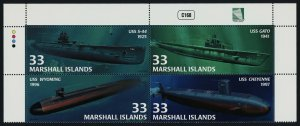 Marshall Islands 754 Top Block MNH Submarines