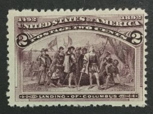 MOMEN: US #231 MINT OG **NH** POST OFFICE FRESH #31113