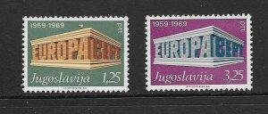 YUGOSLAVIA - EUROPA 1969 - SCOTT 1003 TO 1004 - MNH