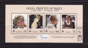 Kiribati 720 Set MNH Princess Diana