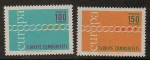 TURKEY SG2369/70 1971 EUROPA MNH