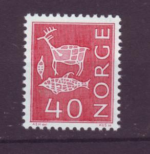J18365 JLstamps 1962 norway mnh #423 rock carvings