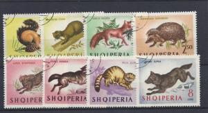 Albania, 722-29, Wild Animals CTO Singles,**NH**