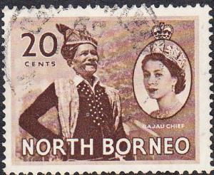 North Borneo #269 Used
