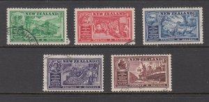 NEW ZEALAND SC# 218-222 - USED