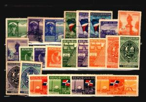 Dominican Republic 23 1930s Mint & Used / Few Faults - C1057