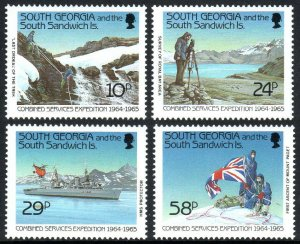 South Georgia 139-142, MNH. Combined Services Expedition,1964-65.Ship,Flag,1989