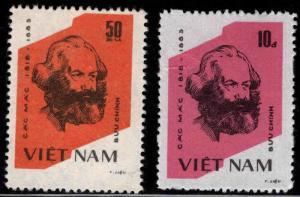 Unified Viet Nam Scott 1317-1318 Unused NGAI Karl Marx set