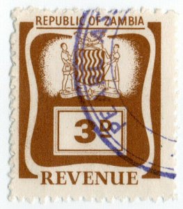 (I.B) Zambia Revenue : Duty Stamp 3d