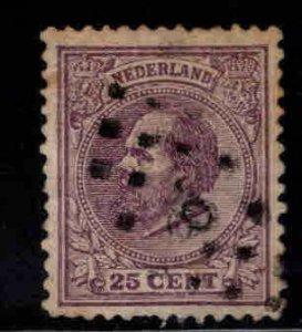 Netherlands Scott 30 used nicely centered stamp, lightly canceled