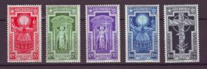 J21555 Jlstamps 1933 italy set mlh last stamp mh #310-4 cross etc