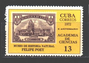 Cuba. 1972. 1750. Stamps on stamps. MNH.