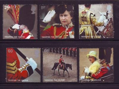 Great Britain Sc 2288-93 2005 Trooping Colours stamp set mint NH