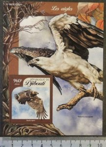 Djibouti 2016 eagles birds of prey s/sheet mnh