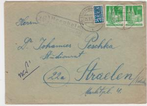 Germany 1950s Stockheim Cancel Obligatory Tax Aid for Berlin Stamps Cover  27315