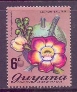Guyana Scott 137, 1971 Flowers 6c MH*