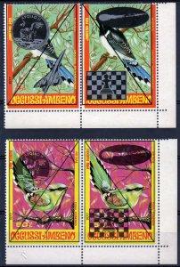 Timor (Ocussi-Ambeno) 1989 Birds-Apollo 11-Chess-Halley'Comet-Concorde 2 Pairs